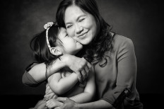 Family Photographer Melbourne Black and White Studio Photography