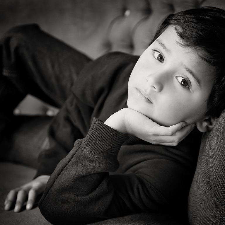Kids children portrait photographer Melbourne black and white Studio Photography