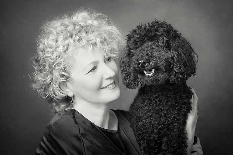 Beautiful black and white of Dog and Owner Photography Melbourne