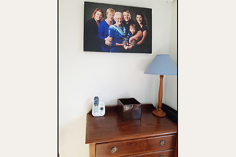 Family wall canvas displayed in clients home
