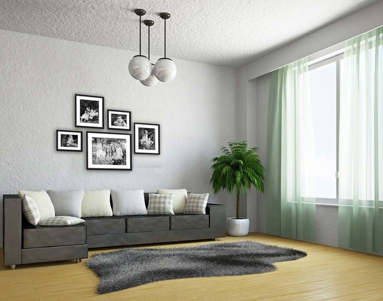 Frames photographs displayed in home on wall